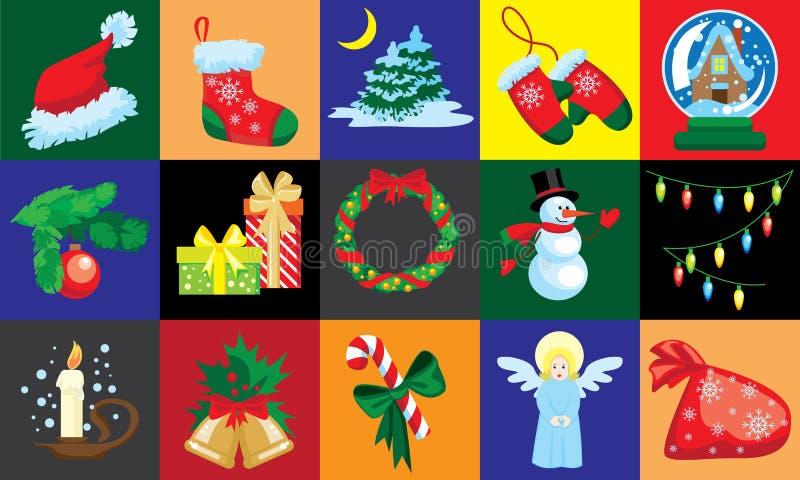 Tarjeta de la plantilla del diseño de la Navidad stock de ilustración