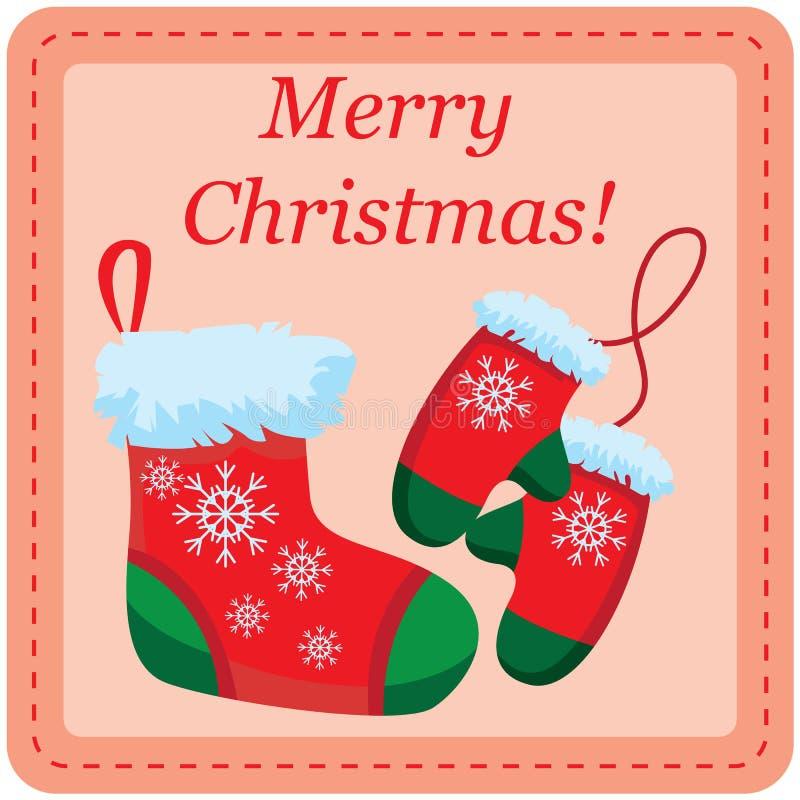 Tarjeta de la plantilla del diseño de la Navidad ilustración del vector