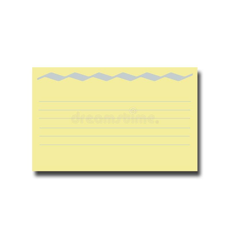 Tarjeta de la receta foto de archivo libre de regalías