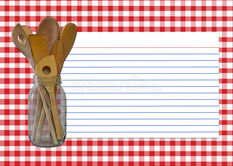 Tarjeta de la receta libre illustration