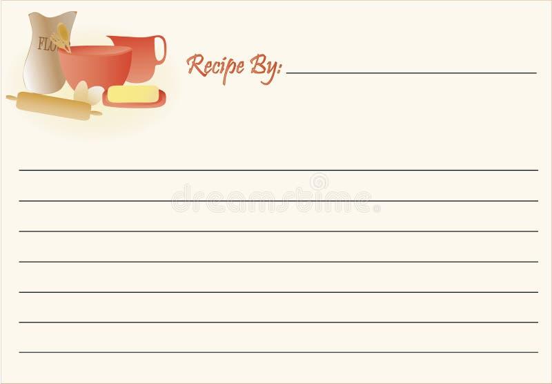 Tarjeta de la receta - hornada stock de ilustración