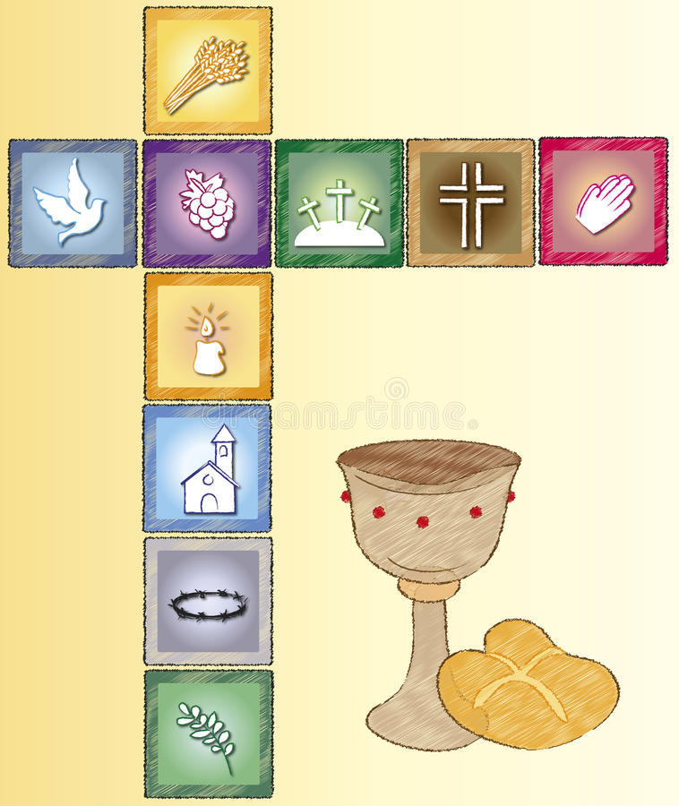 Tarjeta de la religión stock de ilustración