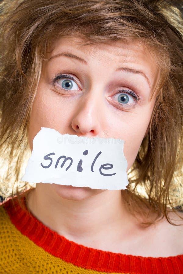 Tarjeta de la sonrisa fotos de archivo libres de regalías