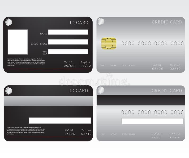 Tarjeta de la tarjeta de crédito y de la identificación libre illustration