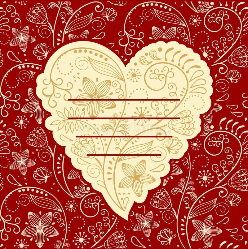 Tarjeta de la tarjeta del día de San Valentín ilustración del vector
