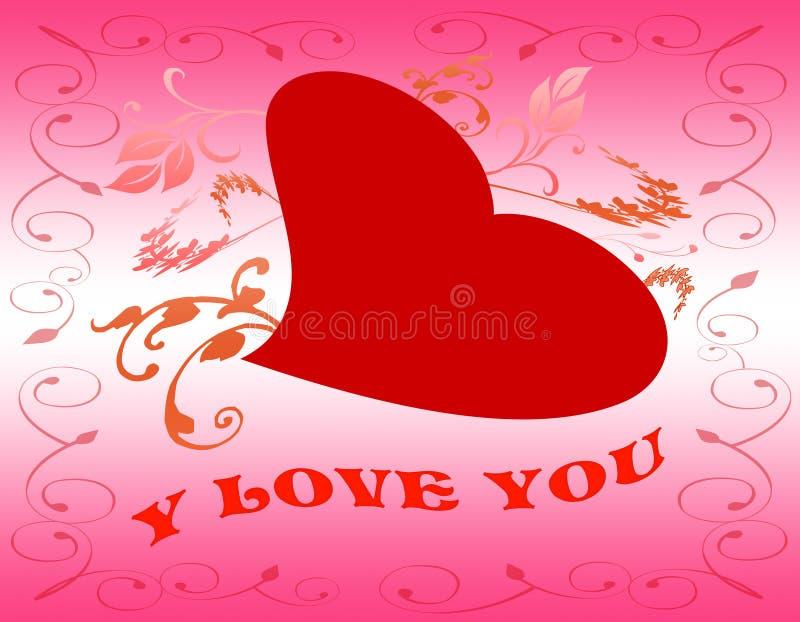 Download Tarjeta De La Tarjeta Del Día De San Valentín Stock de ilustración - Ilustración de pluma, aislado: 7275188