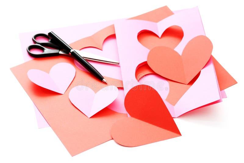 Tarjeta de la tarjeta del día de San Valentín fotografía de archivo