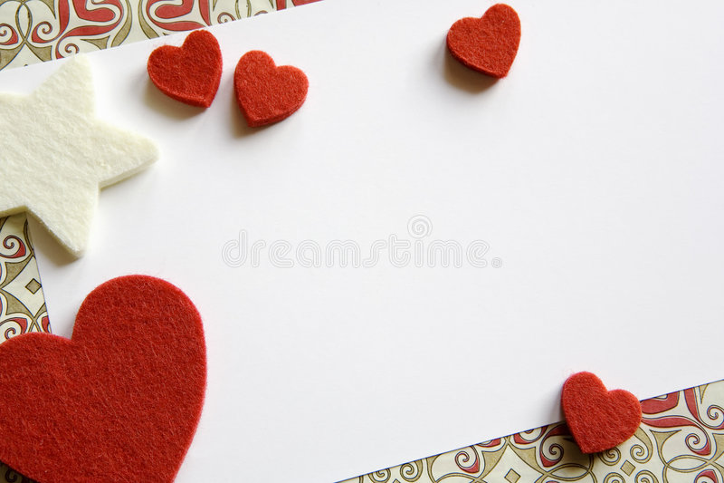 Tarjeta de la tarjeta del día de San Valentín fotografía de archivo libre de regalías