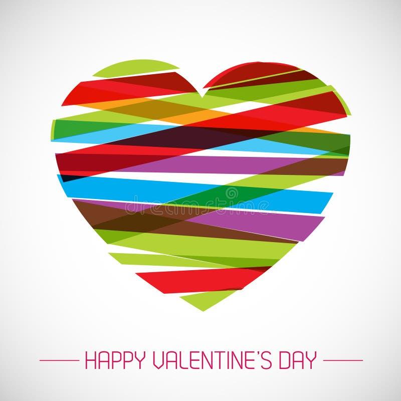 Tarjeta de la tarjeta del día de San Valentín del vector con el corazón stock de ilustración