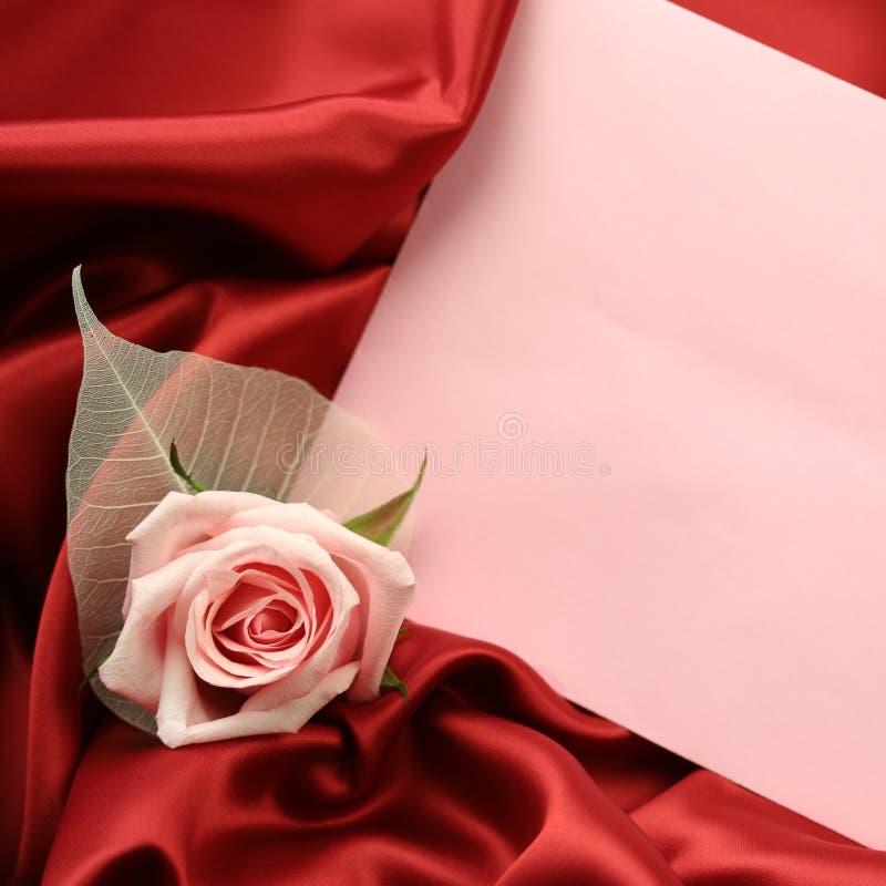 Valentine Card - Rojo Y Rosa Fotografía De Archivo Gratis