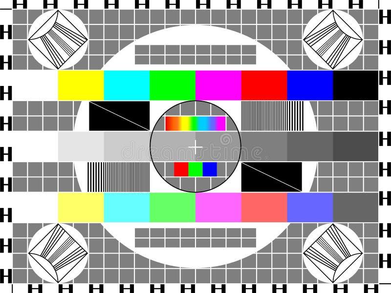 Tarjeta de la TV stock de ilustración