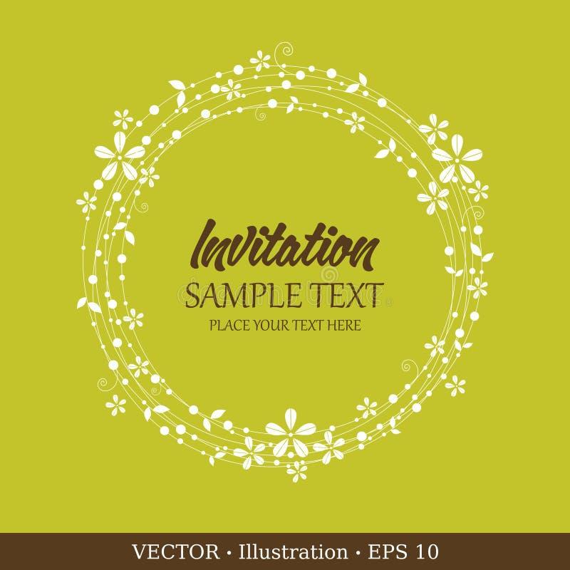 Tarjeta de la vendimia de la invitación. stock de ilustración