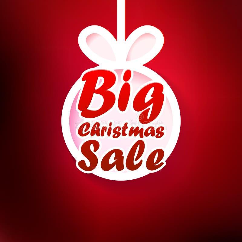 Tarjeta de la venta de la Navidad. + EPS10 ilustración del vector