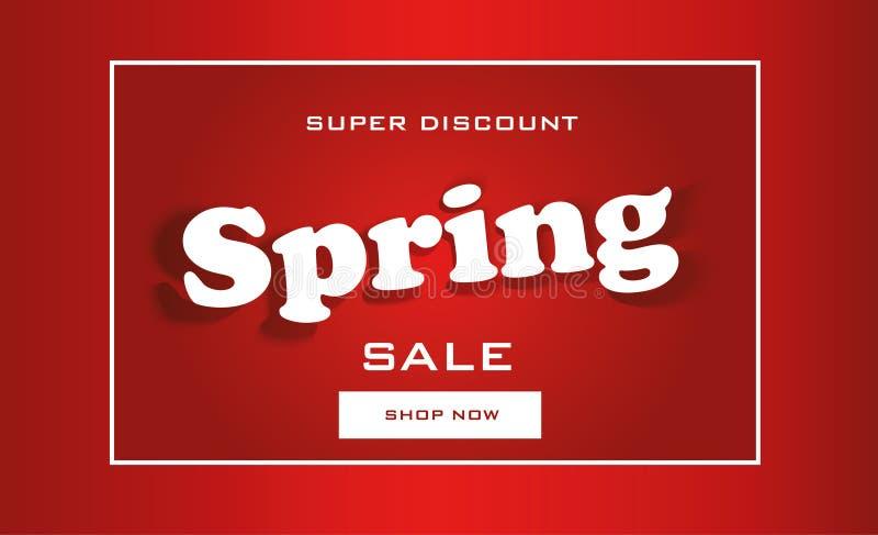 Tarjeta de la venta de la primavera stock de ilustración
