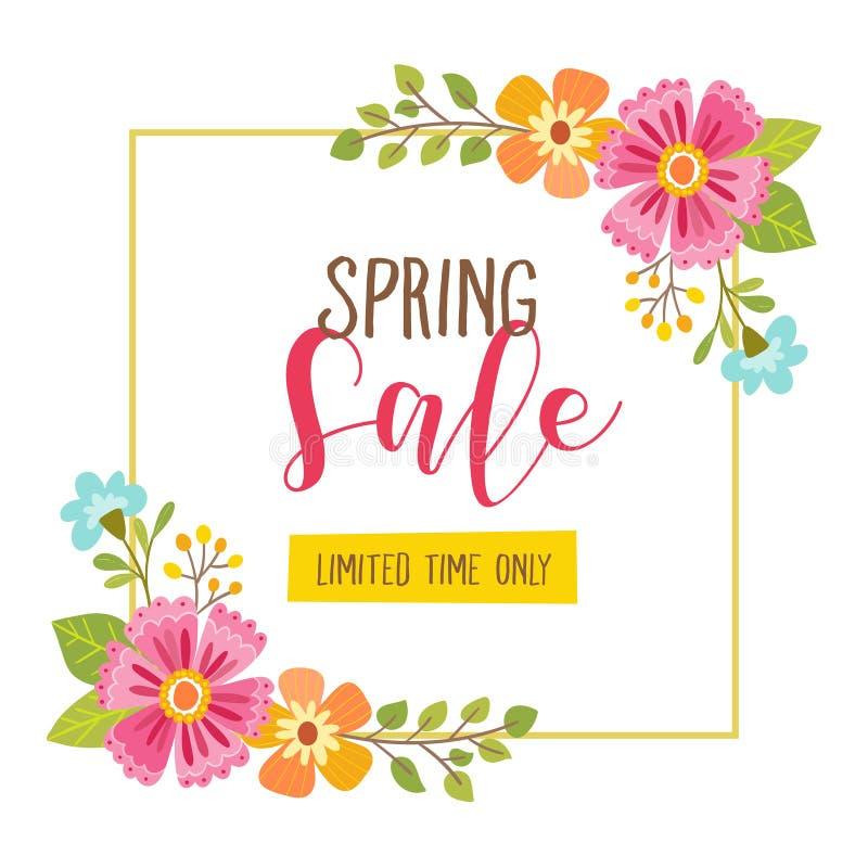 Tarjeta de la venta de la primavera Oferta por tiempo limitado libre illustration