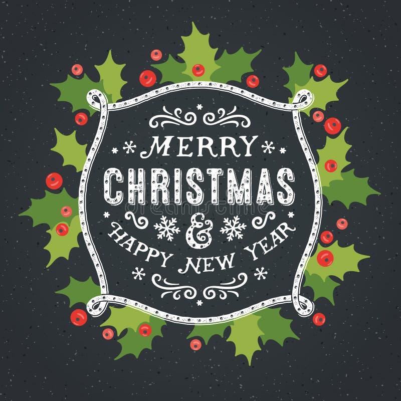 Tarjeta de las decoraciones de la Navidad fotos de archivo libres de regalías