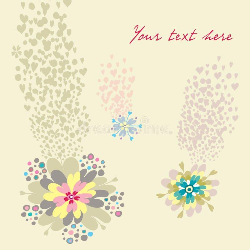 Tarjeta de las flores stock de ilustración