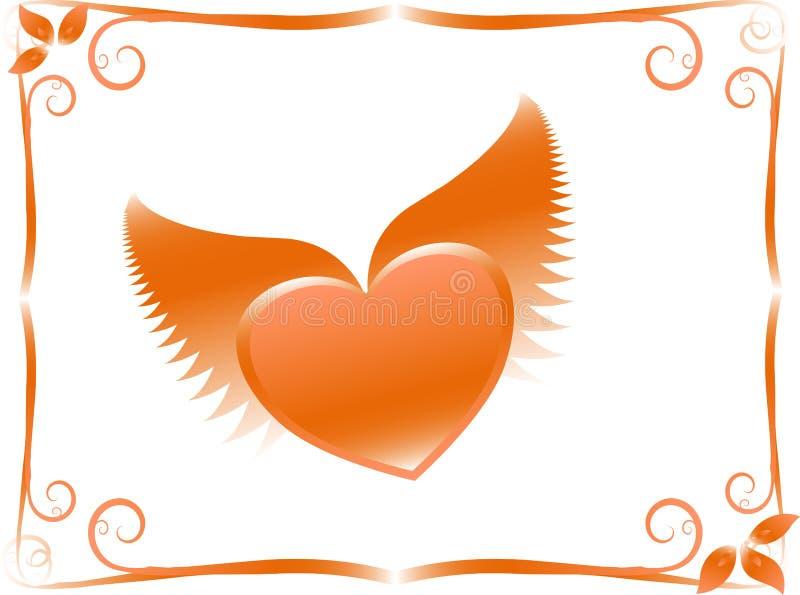 Tarjeta de las tarjetas del día de San Valentín ilustración del vector