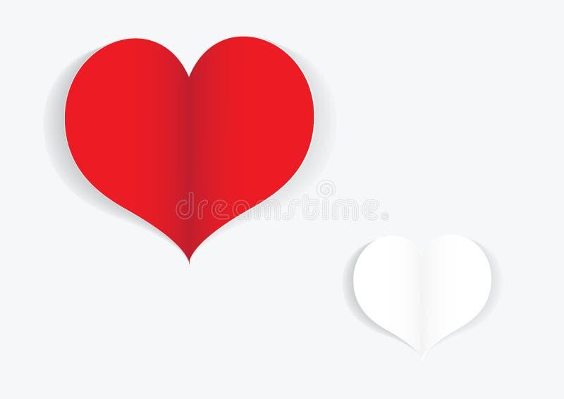 Tarjeta de las tarjetas del día de San Valentín del papel imagen de archivo
