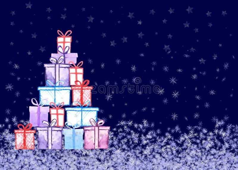 Tarjeta de los regalos de Navidad libre illustration