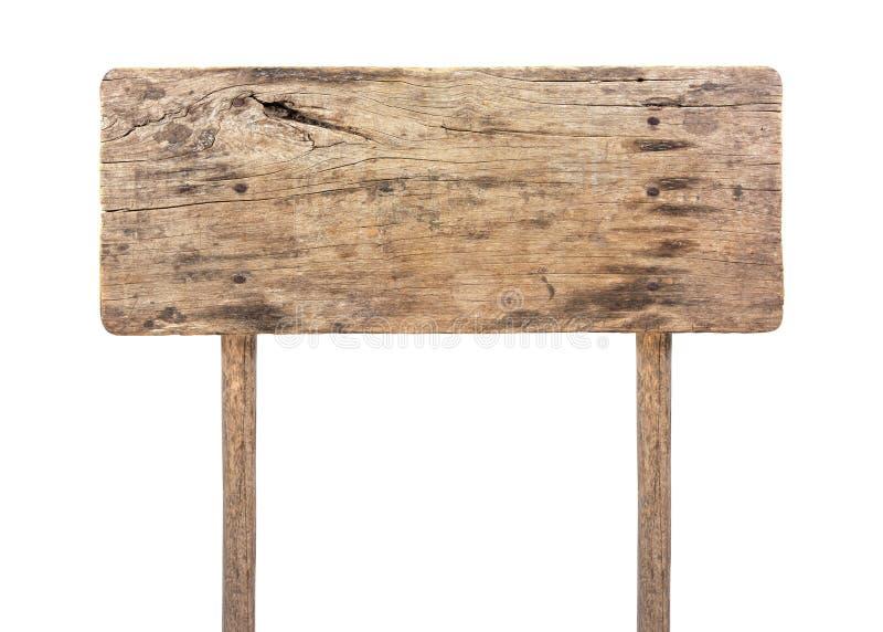 Tarjeta de madera de la muestra aislada en el fondo blanco Tablero de madera de la muestra en estilo de la forma del rectángulo a imagen de archivo libre de regalías