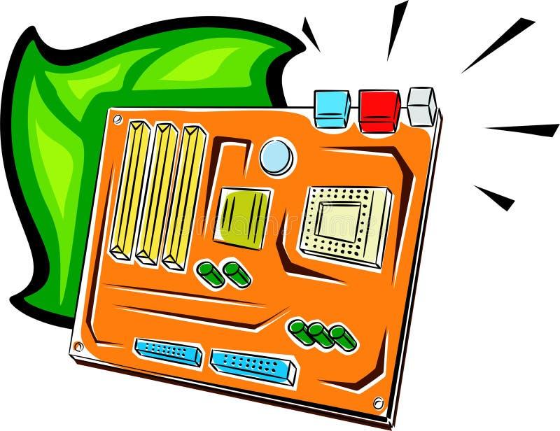 Tarjeta de madre del ordenador ilustración del vector