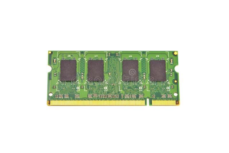 Tarjeta de memoria de la computadora portátil foto de archivo libre de regalías