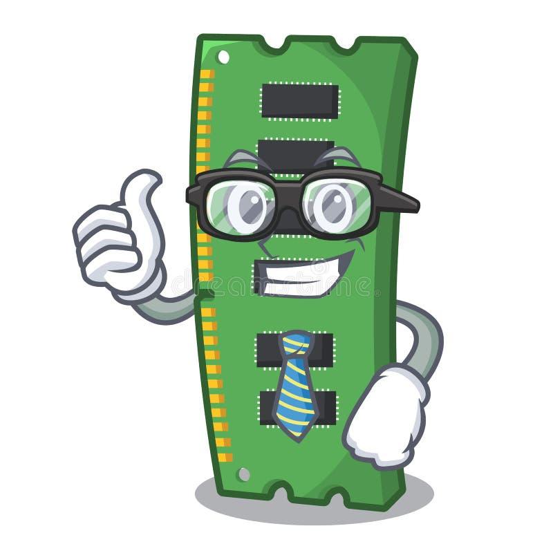 Tarjeta de memoria de RAM del hombre de negocios la forma de la mascota stock de ilustración