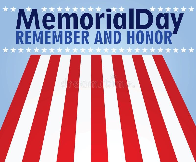 Tarjeta de Memorial Day ilustración del vector