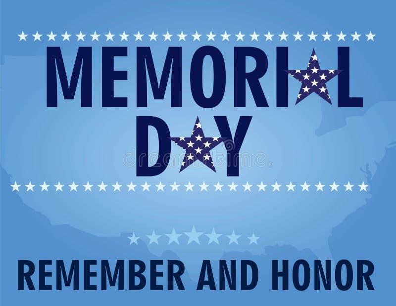Tarjeta de Memorial Day stock de ilustración