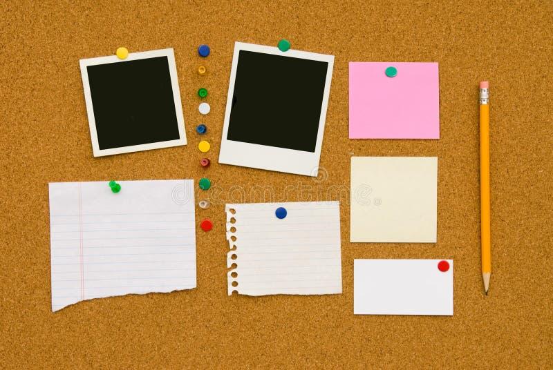 Tarjeta de mensaje fotos de archivo