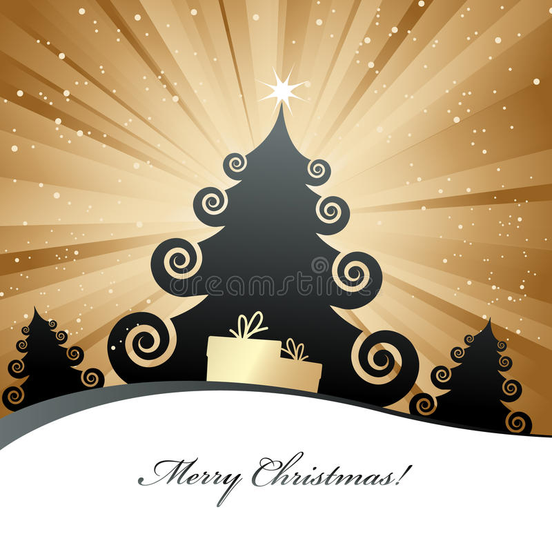 Tarjeta de Navidad. foto de archivo