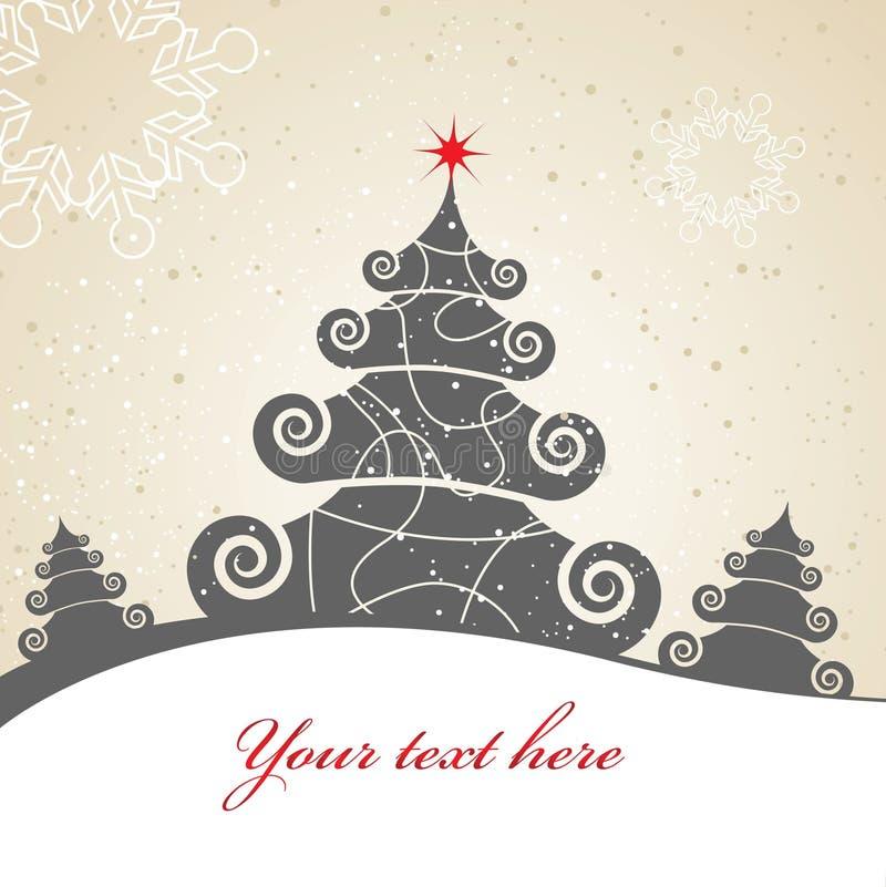 Tarjeta de Navidad. imagen de archivo