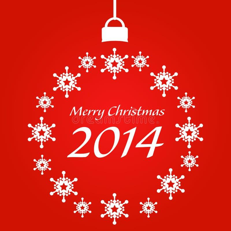 Tarjeta de Navidad 2014 foto de archivo libre de regalías