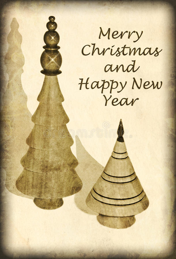 Tarjeta de Navidad antigua del estilo foto de archivo libre de regalías