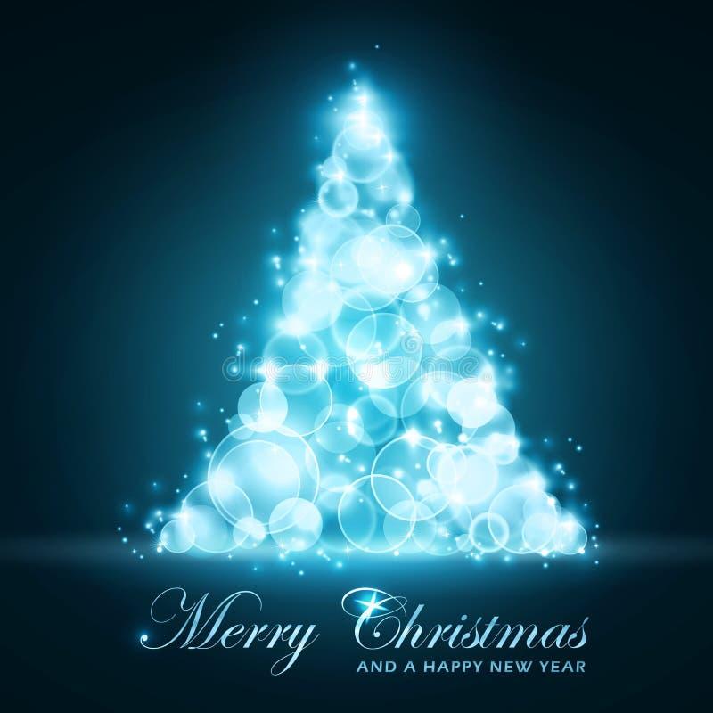 Tarjeta de Navidad azul ilustración del vector