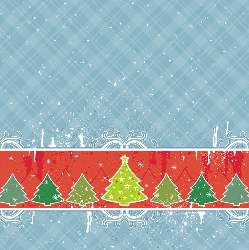 Tarjeta de Navidad azul, vector libre illustration
