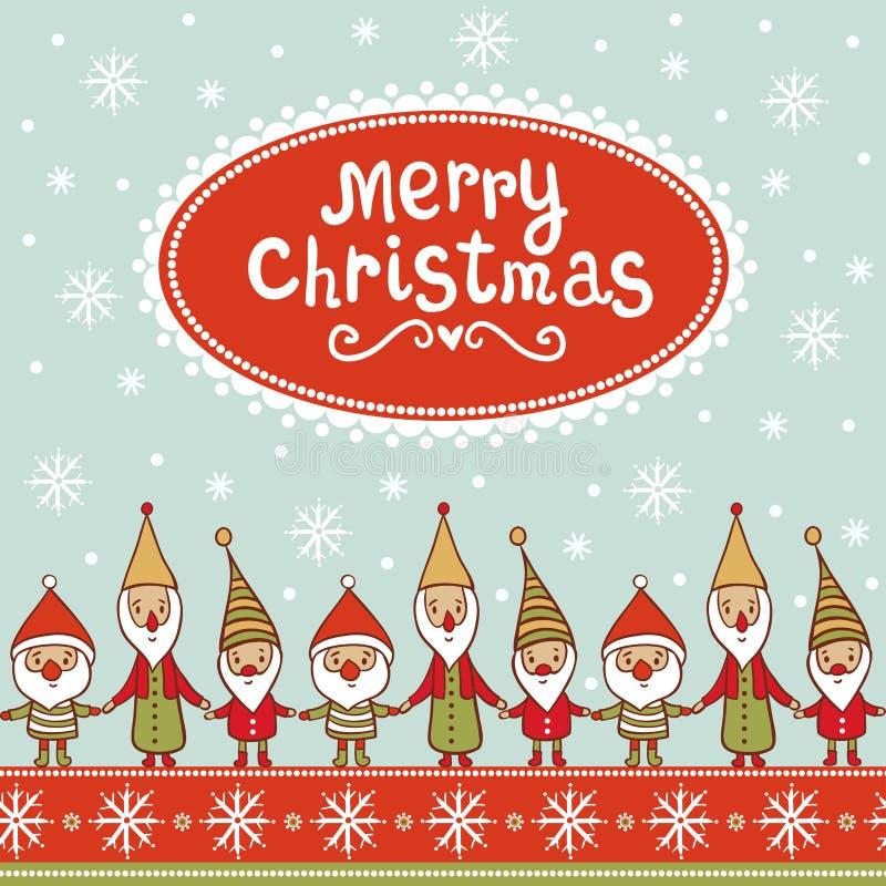 Tarjeta de Navidad brillante con el textbox. libre illustration