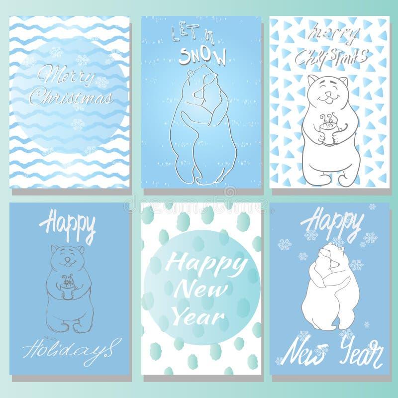 Tarjeta de Navidad Buenas fiestas tarjeta ilustración del vector