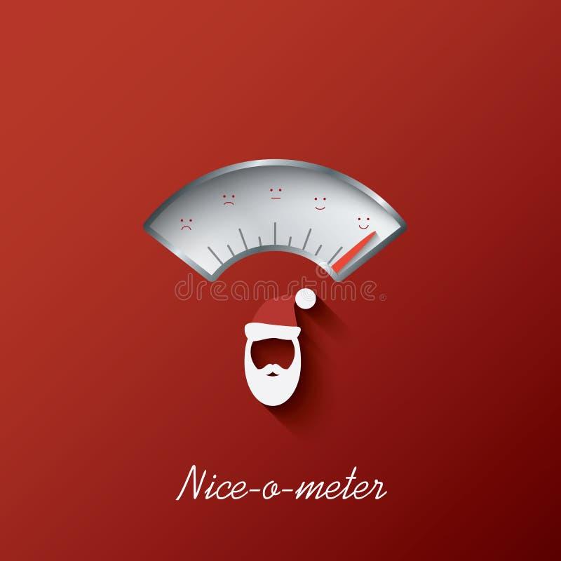 Tarjeta de Navidad con el agradable-o-metro Vector Eps10 stock de ilustración