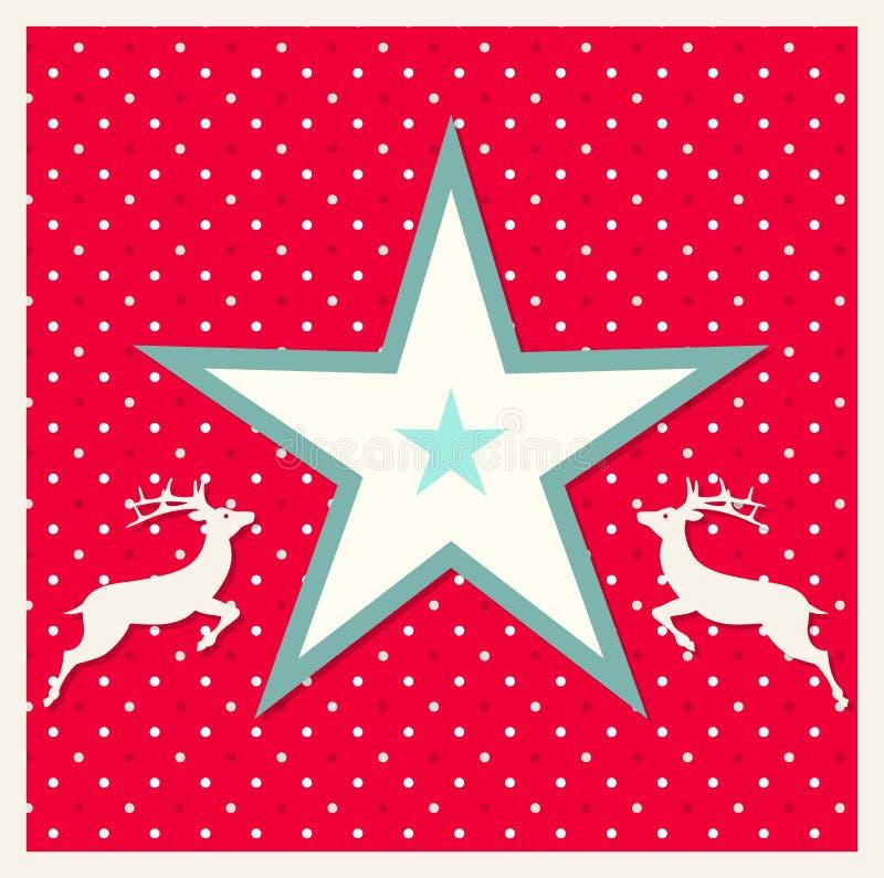 Download Tarjeta De Navidad Con El Reno Ilustración del Vector - Ilustración de holidays, saludo: 44851305