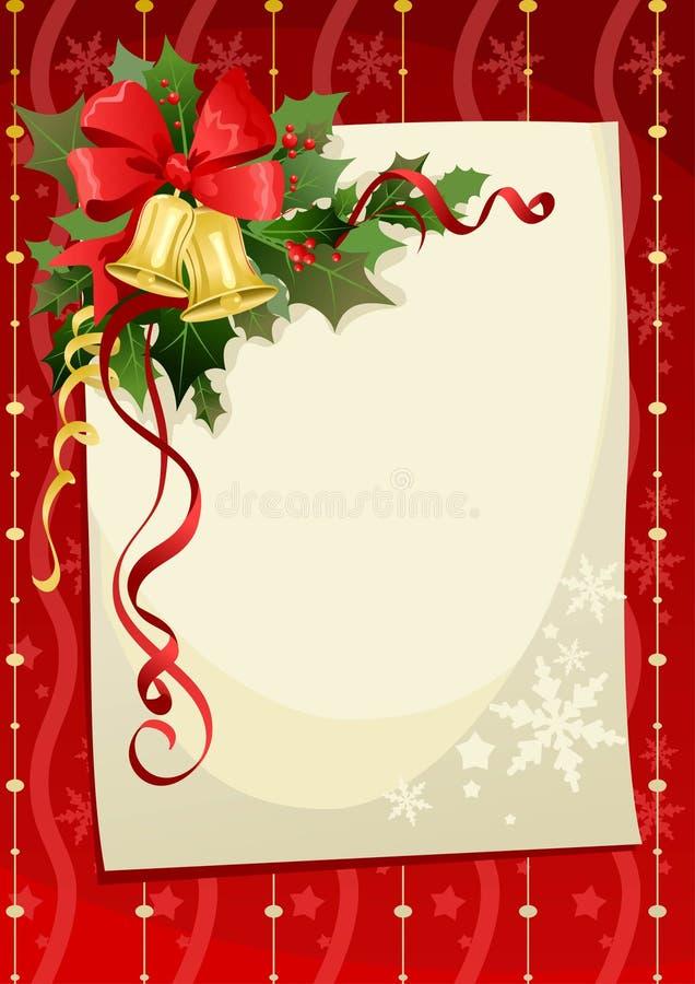Tarjeta de Navidad con las alarmas stock de ilustración
