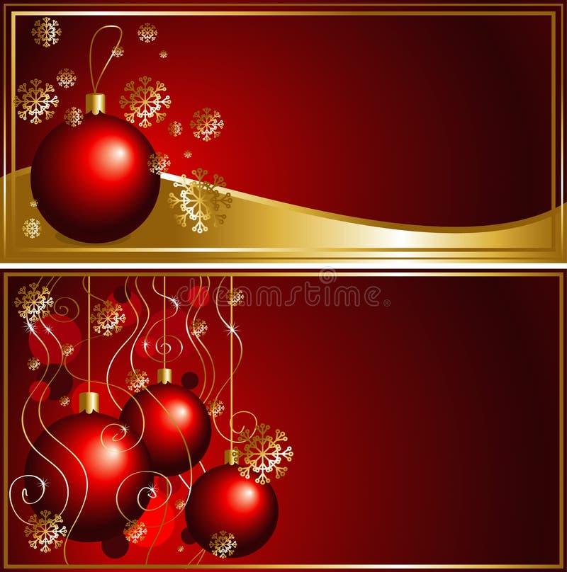 Tarjeta de Navidad con las bolas de la Navidad ilustración del vector