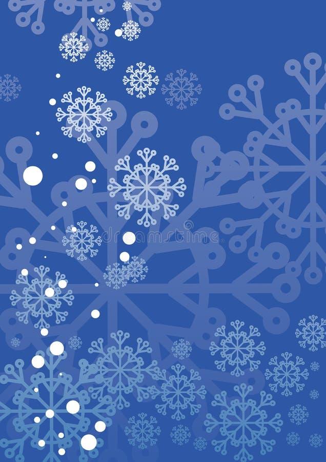 Tarjeta de Navidad con los copos de nieve stock de ilustración