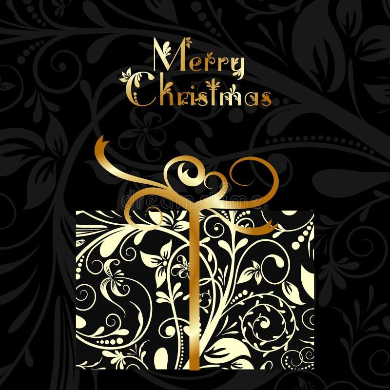 Tarjeta de Navidad con un ornamento, vector stock de ilustración