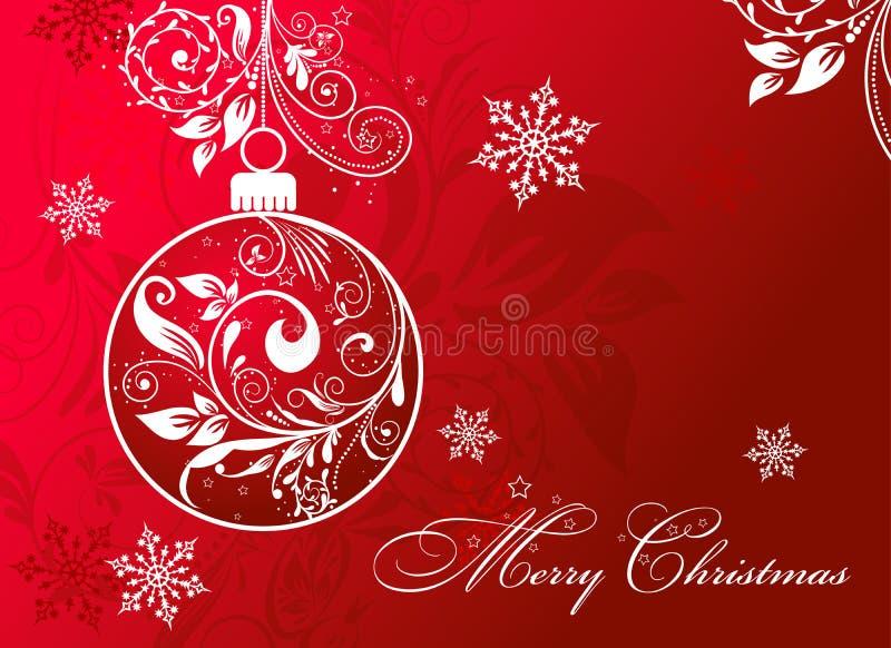 Tarjeta de Navidad con un ornamento, vector libre illustration
