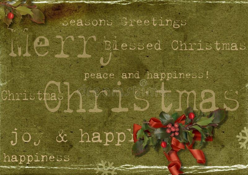 Tarjeta de Navidad de Grunge stock de ilustración