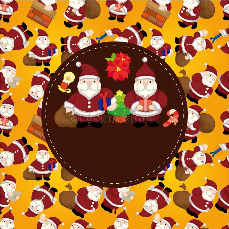Tarjeta de Navidad de la historieta ilustración del vector