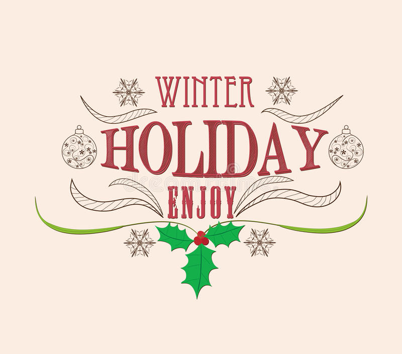 Tarjeta de Navidad de la vendimia libre illustration