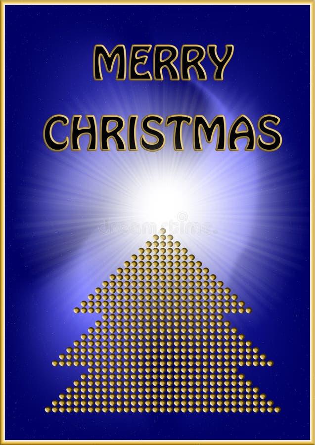Tarjeta de Navidad de oro libre illustration